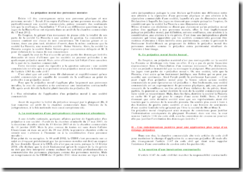 Commentaire de l'arrêt de la Chambre commerciale de la Haute Cour daté du 15 mai 2012: le préjudice moral des personnes morales