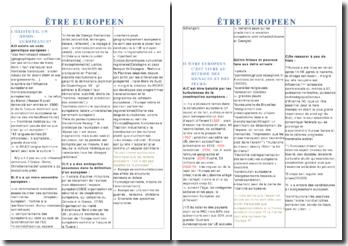 Qu'est-ce qu'être européen?