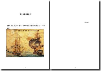 Les débuts du monde moderne: fin du XVe, début du XVIe siècle