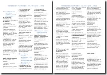 Centres et périphéries en Amérique latine
