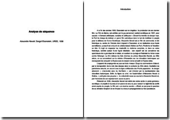 Alexandre Nevski - Sergeï Eisenstein, URSS, 1938: analyse de séquence