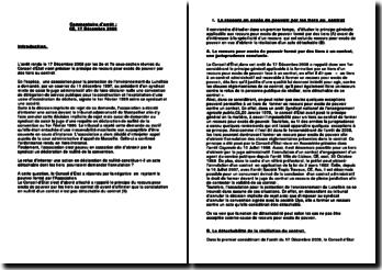 Commentaire d'arrêt du Conseil d'Etat, 17 décembre 2008: le principe de recours pour excès de pouvoir par des tiers au contrat