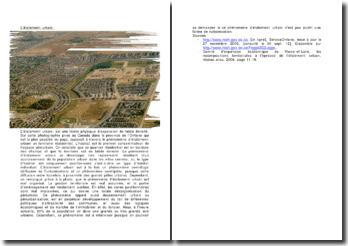l'étalement urbain: forme physique d'expansion de faible densité