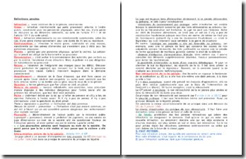 Définitions pénales et interprétation stricte de la loi pénale