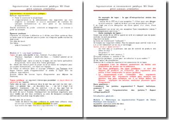 Droit privé sciences criminelles: argumentation et raisonnement juridique