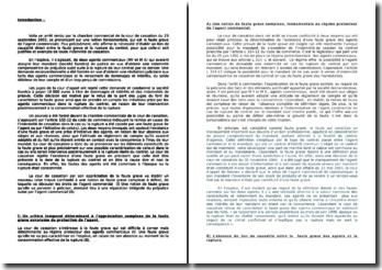 Commentaire d'arrêt, Chambre commerciale de la Cour de cassation, 23 septembre 2003: la faute grave de l'agent commercial