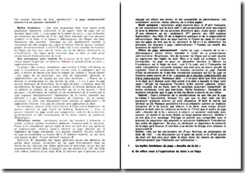 Les sources internes du droit administratif: Le juge administratif exerce-t-il un pouvoir normatif ?