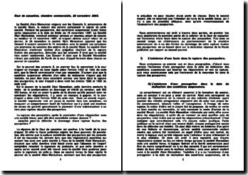 Commentaire d'arrêt de la Chambre commerciale de la Cour de cassation du 26 novembre 2003: la rupture fautive des pourparlers