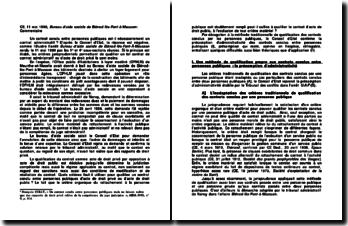 CE, 11 mai 1990, Bureau d'aide sociale de Blénod-lès-Pont-à-Mousson: