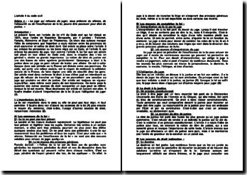 Commentaire de l'article 4 du Code civil: le déni de justice