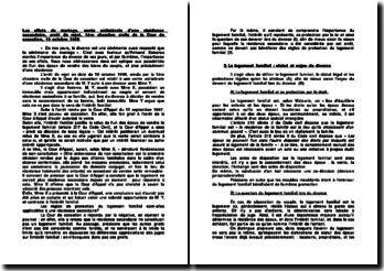 Les effets du mariage, vente unilatérale d'une résidence secondaire, arrêt de rejet, 1ère chambre civile de la Cour de cassation, 19 octobre 1999