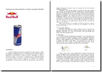 Techniques de commercialisation: la boisson énergisante Red Bull