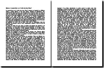 Spinoza: la superstition ou le culte des faux Dieux