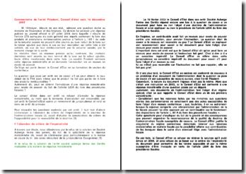 Commentaire de l'arrêt Friadent, Conseil d'état sect., 16 décembre 2005