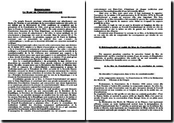 Le bloc de constitutionnalité - une unité hétérogène facteur d'émancipation du Conseil Constitutionnel