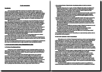 La lex mercatoria- source d'interprétation et instrument du droit