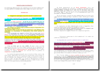 Les juridictions administratives, les compétences, le contentieux administratif et la responsabilité de l'administration (faute simple, faute grave, sans faute)