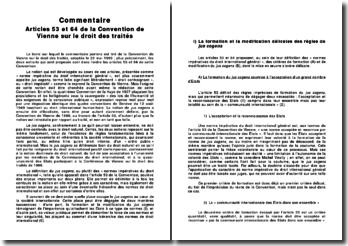 Articles 53 et 64 de la Convention de Vienne sur le droit des traités