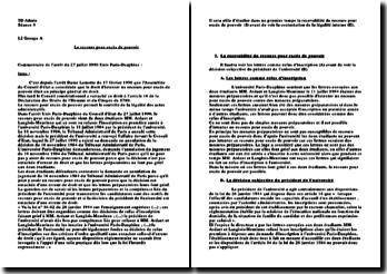 Commentaire d'arrêt, Université Paris-Dauphine, Conseil d'Etat, 27 juillet 1990: recours pour excès de pouvoir