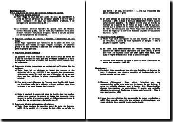Analyse de la préface du Dernier Jour d'un Condamné de Victor Hugo; un plaidoyer pour l'abolition de la peine de mort