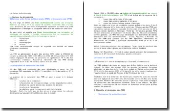 dissertation sur les firmes multinationales