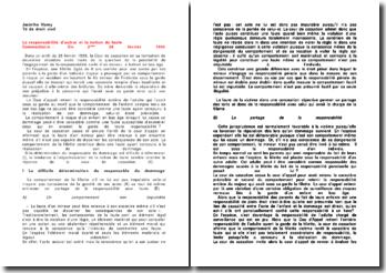 Commentaire de l'arrêt de la Deuxième Chambre civile de la Cour de cassation du 28 février 1996: la responsabilité d'autrui et la notion de faute