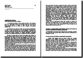 Commentaire de l'article 1342 de l'avant projet « Catala »