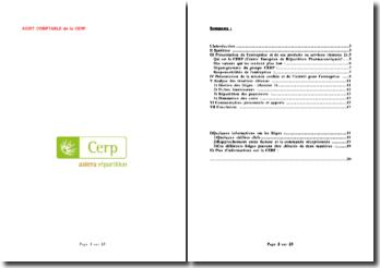 Rapport de stage effectué au sein du service comptabilité de la CERP