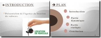 Présentation de l'agence de location de voitures