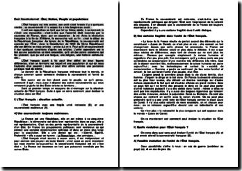 Droit Constitutionnel : État, Nation, Peuple et populations