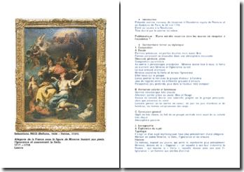 Allégorie de la France sous la figure de Minerve foulant aux pieds l'Ignorance et couronnant la Vertu, 1717 - 1718, musée du Louvre