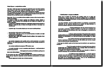 Herbert Spencer, la complexité des sociétés et Emile Durkheim, les types de solidarité