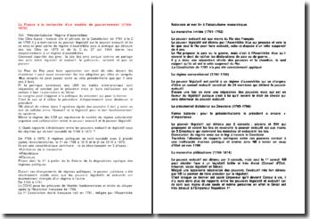 La France à la recherche d'un modèle de gouvernement (1789-1870)