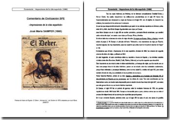 Comentario de Impresiones de la vida española - José Maria Samper (1860)