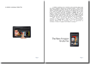 La tablette numérique Kindle Fire