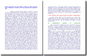 Opinion individuelle du juge Anzilotti, affaire du régime douanier entre l'Allemagne et l'Autriche, CPIJ, avis consultatif du 5 septembre 1931
