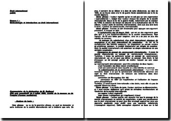 Commentaire de la déclaration de M. Bedjaoui (CIJ, avis consultatif du 8 juillet 1996, Licéité de la menace ou de l'emploi d'armes nucléaires)