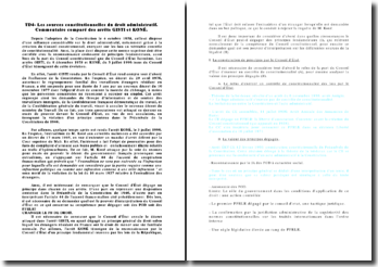 Les sources constitutionnelles du droit administratif: commentaire comparé des arrêts Gisti et Koné