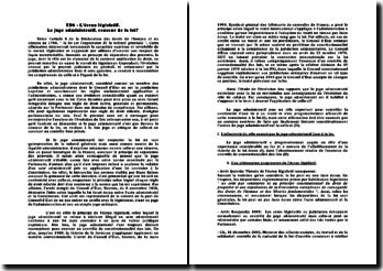L'écran législatif: le juge administratif, censeur de la loi ?