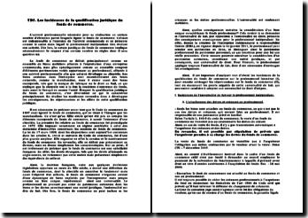 Les incidences de la qualification juridique du fonds de commerce