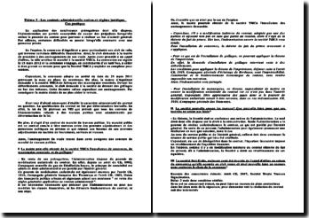 Cas pratique: les contrats administratifs, notion et régime juridique