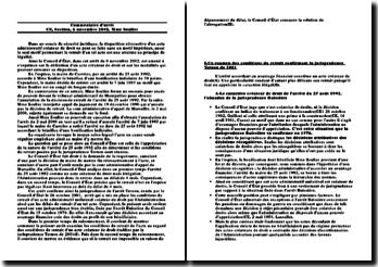 Commentaire d'arrêt, Conseil d'Etat, 6 novembre 2002, Mme Soulier