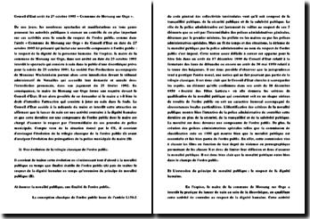 Conseil d'Etat, arrêt du 27 octobre 1995 «Commune de Morsang sur Orge»