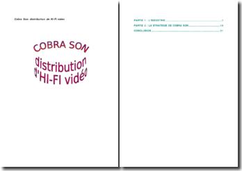 Cobra Son: distribution de Hi-Fi vidéo