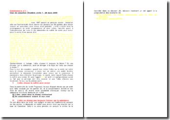 Commentaire d'arrêt de la Chambre civile de la Cour de cassation du 28 mars 2008 : l'aléa et l'erreur sur la substance