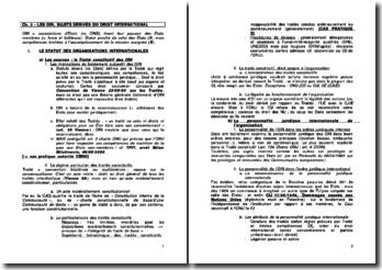 Les organisations internationales (OIN), sujets dérivés du droit international