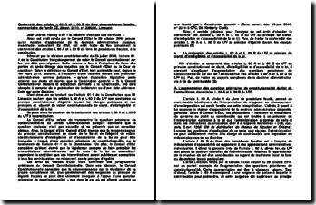 Conformité des articles L 80 A et L 80 B du livre de procédures fiscales, commentaire de l'arrêt CE, 29 oct. 2010, n 339200, Limousin