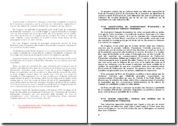 Commentaire de l'arrêt du 16 janvier 1986: affaire de tentative d'homicide volontaire sur un cadavre