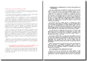 Commentaire de d'arrêt, 3ème chambre civile de la Cour de Cassation, du 20 janvier 2009: droit de propriété lorsqu'il y a empiètement sur le terrain d'autrui
