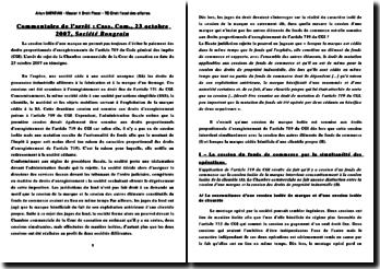 Commentaire d'arrêt, Cour de cassation, chambre Commmerciale, 23 octobre 2007, Société Bongrain: cession isolée d'une marque et paiement des droits proportionnels d'enregistrements